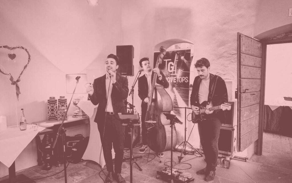 The Groovetops Hochzeitsband für Sektempfang und Abendessen