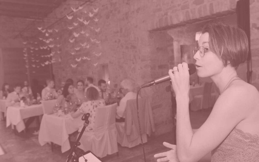 Die Hochzeitsband Trio Merlot live auf einer Hochzeit im Schloss